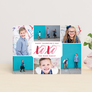 XOXO Collage Valentine's Day Postcards