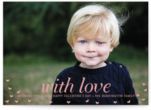 With Love Valentine&#039;s Day Postcards