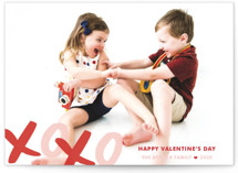 XOXO Bunting Banners Valentine&#039;s Day Postcards