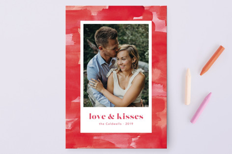 A painted background Valentine's Day Postcards