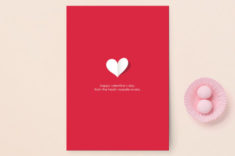paper heart Valentine's Day Postcards