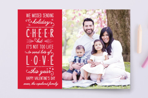 Love This Year Instead Of Cheer Valentine's Day Postcards