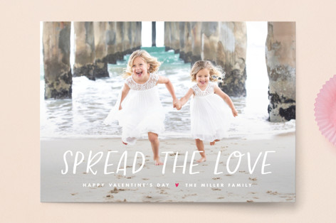 Spread love Valentine's Day Postcards