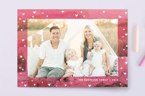 Heart Border Valentine's Day Postcards