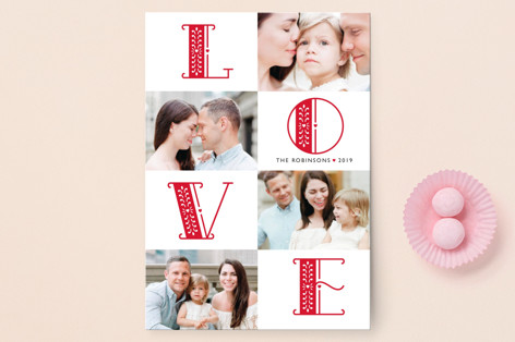 Intricate NOEL Valentine's Day Postcards