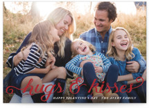 Hugs & Kisses Valentine's Day Postcards