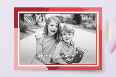 Color Blotch Valentine's Day Postcards