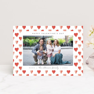 hearts frame Valentine's Day Postcards