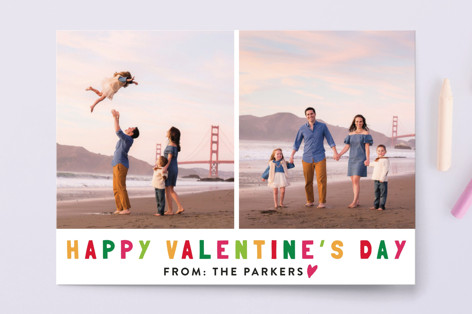 Colorful Valentines Valentine's Day Postcards