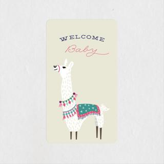 Llama, llama Baby Shower Stickers