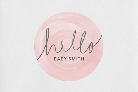 Hello Baby Baby Shower Stickers