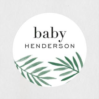 jungle edge Baby Shower Stickers