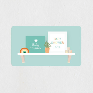 Nursery Shelves Baby Shower Stickers