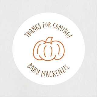 A Little Pumpkin Baby Shower Stickers