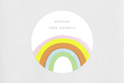 Little Rainbow Baby Shower Stickers