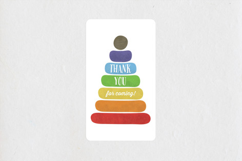 Classic Stacking Toy Baby Shower Stickers