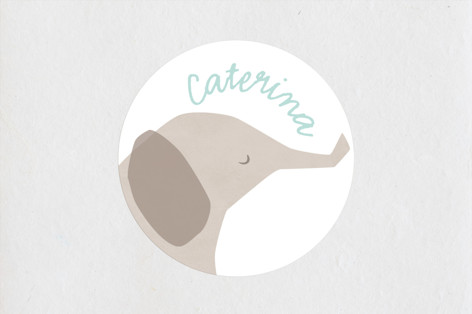 color me grey Baby Shower Stickers