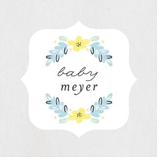 Little Dear Baby Shower Stickers