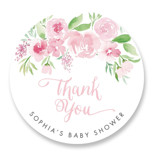 Watercolor Garden Baby Shower Stickers