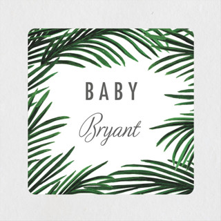 Tropical Love Baby Shower Stickers