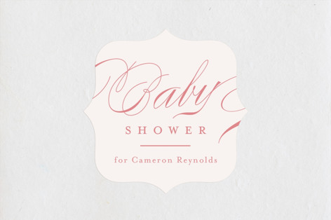Classique Baby Shower Stickers