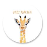 Baby Animal Giraffe Baby Shower Stickers