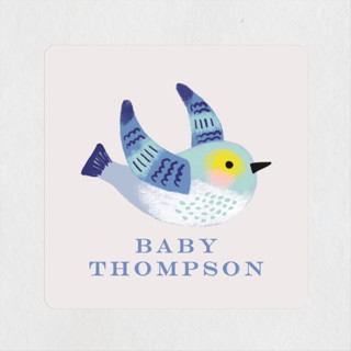 Bird Couple Baby Shower Stickers
