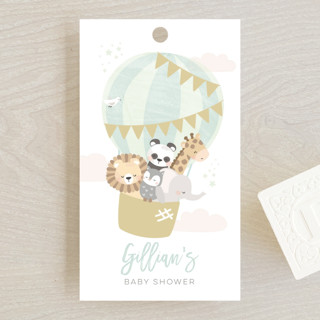 baby balloon ride Baby Shower Favor Tags