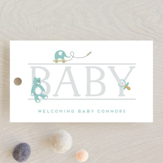 baby serif Baby Shower Favor Tags