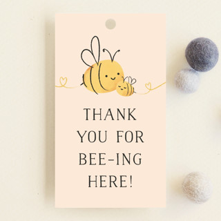 Mommy-to-Bee Baby Shower Favor Tags