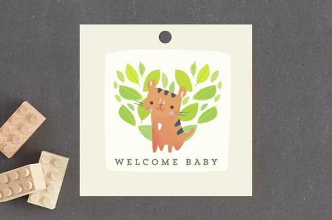 Jungle Tigers Baby Shower Favor Tags