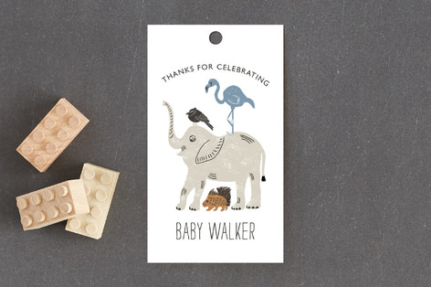 Wild Ride Baby Shower Favor Tags