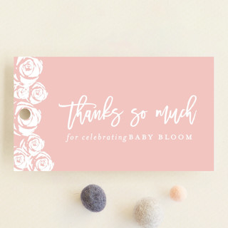 Roses Baby Shower Favor Tags