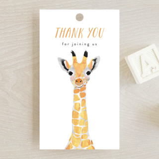 Baby Animal Giraffe Baby Shower Favor Tags