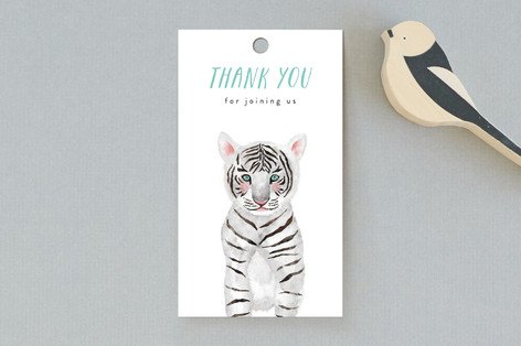 Baby Animal Tiger Baby Shower Favor Tags