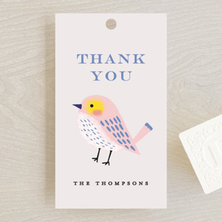 Bird Couple Baby Shower Favor Tags