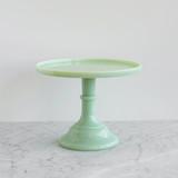 Green Milk Glass