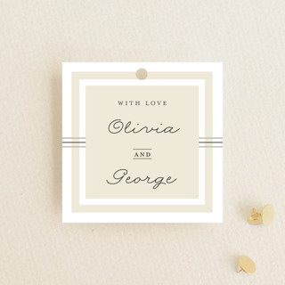 Three Classic Lines Wedding Favor Tags