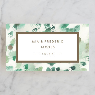 Painted Wedding Favor Tags