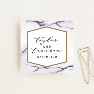 Marbled Wedding Favor Tags