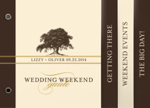 Oak Tree Wedding Announcement Minibook™ Cards