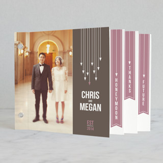 Arrows Wedding Announcement Minibook™ Cards