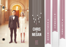Arrows Wedding Announcement Minibook&amp;trade; Cards