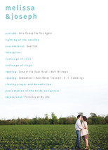 A Sweet Afternoon Wedding Programs
