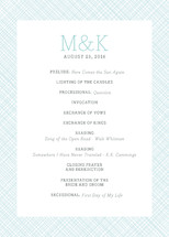 Cross Hatch Frame Wedding Programs