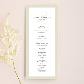Initial Script Unique Wedding Programs