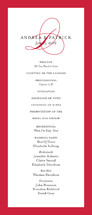 Initial Script Wedding Programs