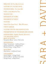 Side type Wedding Programs