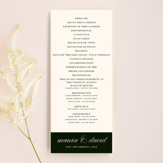 Modern Elegance Wedding Programs Buy now Modern Elegance Wedding Programs