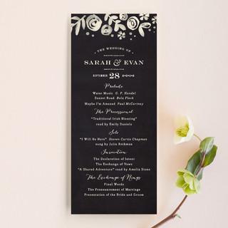 Sun Bleached Florals Wedding Programs